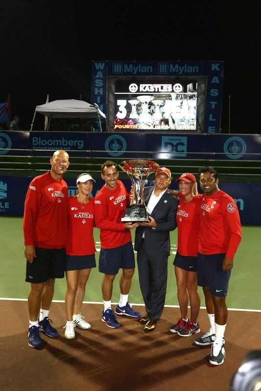 2013 World Team Tennis Champions the Washington Kastles! Players not pictured but who also made invaluable contributions to the Washington Kastles'  2013 success: Kevin Anderson, Frederik Nielsen, Raquel Kops-Jones, Victoria Duval, & more. For the Kastles' 2011,12 success MVP Venus Williams, Fmr Team Capt Renee Stubbs & more. #REFUSEtoLOSE