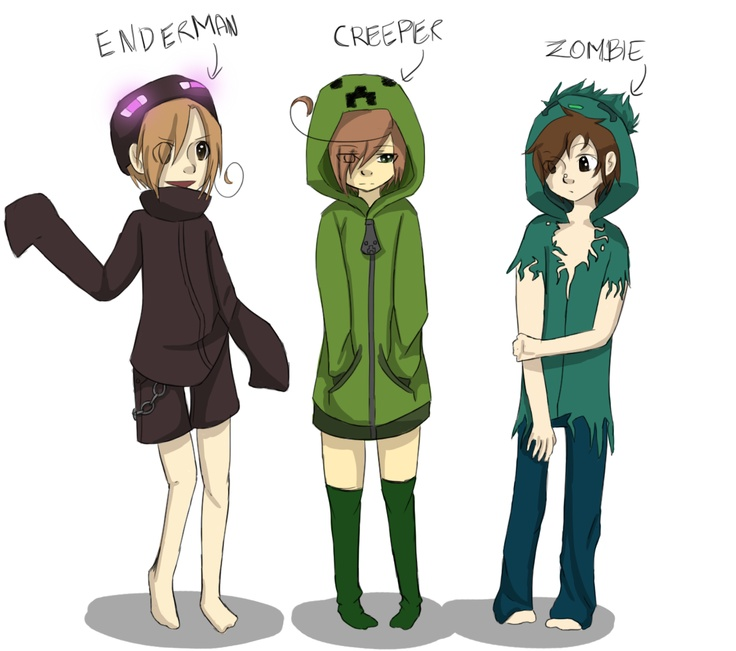 1000 images about anime minecraft on pinterest caves - Anime creeper girl ...