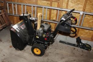 Poulan Pro Snow Blower found on MaxSold Kingston downsizing auction.