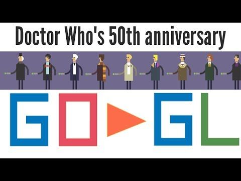 50th Anniversary of Doctor Who | Only on Google in the UK. interactive Google Doodle 11/22/2013