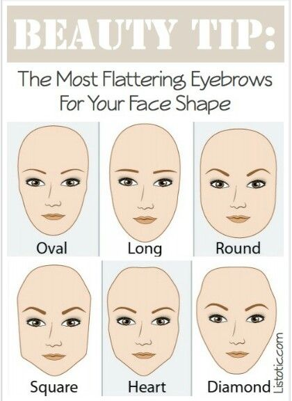 One of the most flattering shapes for your brows is something that resembles what your natural brows look like. Your brows naturally compliment your face shape.