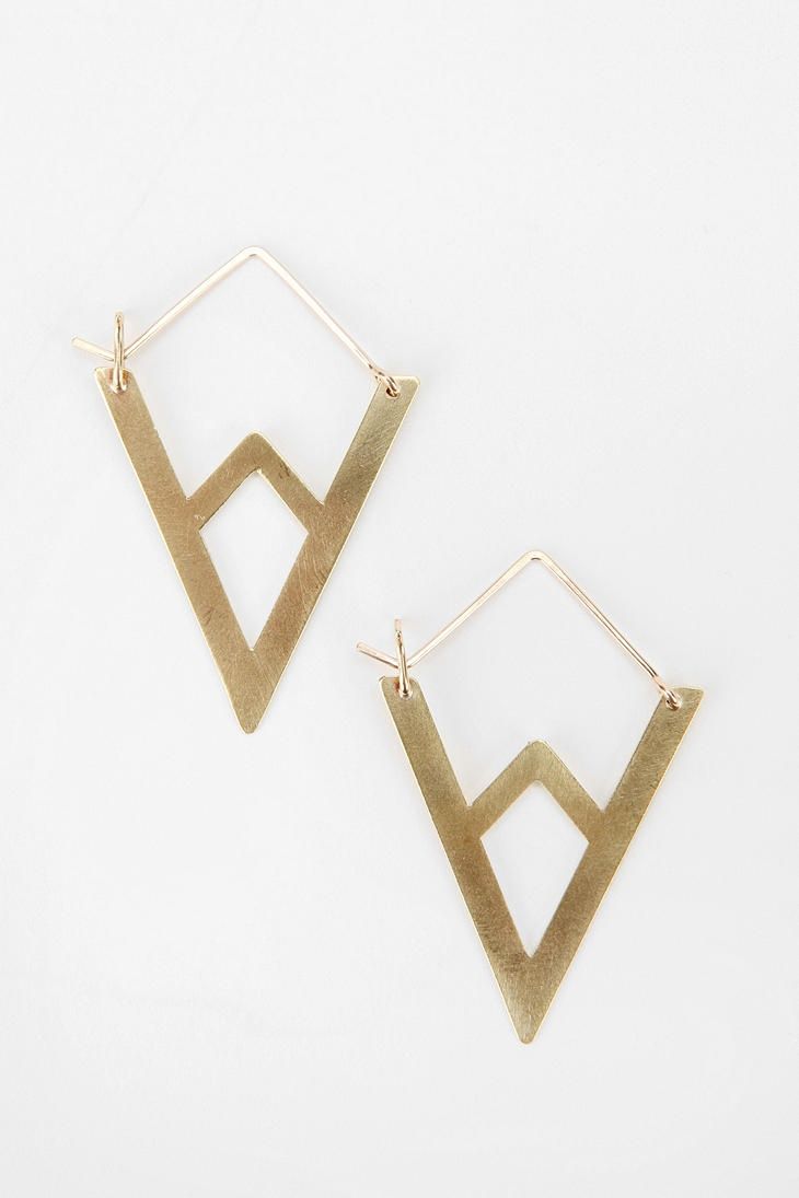 Lila Rice Mountain Hoop Earring  #UrbanOutfitters