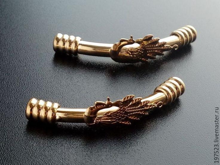 Купить ТРУБОЧКИ ПОЗОЛОТА Ю.Корея - золотой, фурнитура для украшений, фурнитура для бижутерии, фурнитура