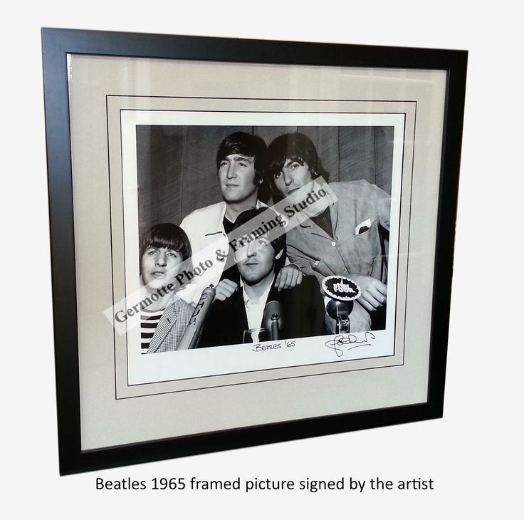 Beatles 1965 framed picture signed by the artist at the silent auction tent during the RBC Bluesfest July 8-19 Lebraton flats, and many more. #Beatles   #RBC   #Bluesfest   #Ottawa   #Pictureframing  http://germotte.ca