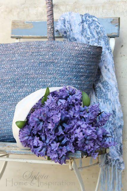 BlueBeautiful Blue, Blue, Blauw Blue, Ana Rosa, Wedding Colors, Periwinkle Blue, Baskets, Purple Bouquets, Flower