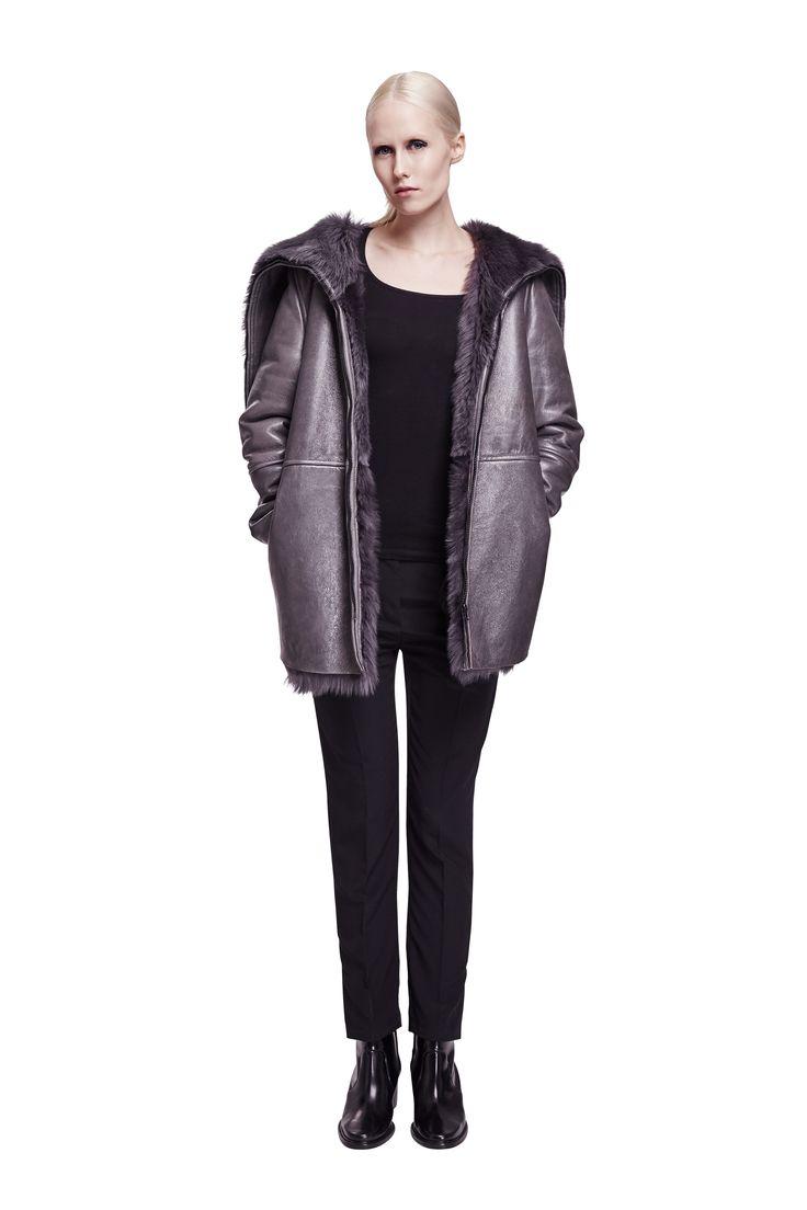 ONAR Fener coat in grey