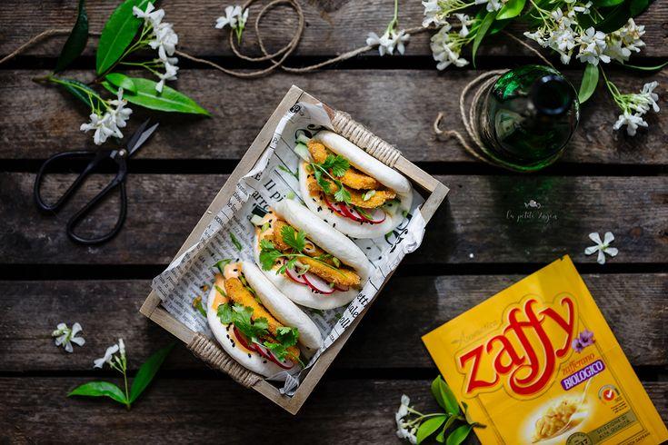 Bao sandwich con pollo fritto allo zafferano - di Giovanna Hoang #fuudly #ricette #cucinaconzaffy