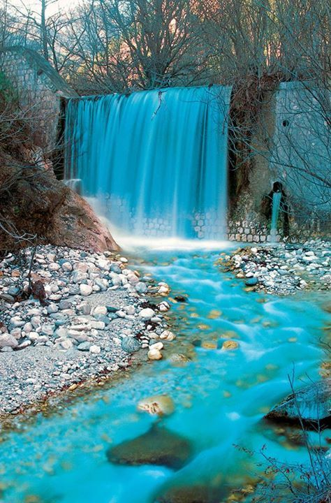 Pozar Thermal Baths at the foot of Kaimaktsalan mountain, Pella, Macedonia, Greece.