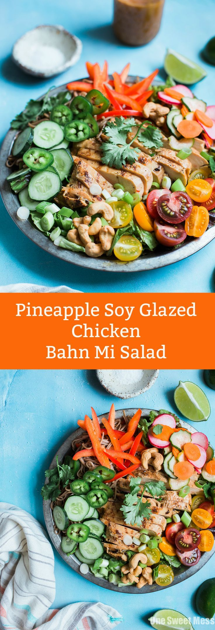 Pineapple Soy Glazed Chicken Bahn Mi Salad