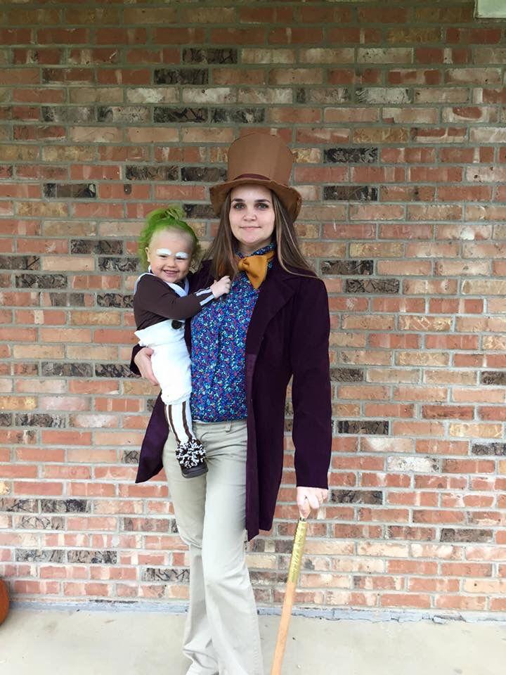 Mother son Costumes. Willy Wonka Oompa Loompa