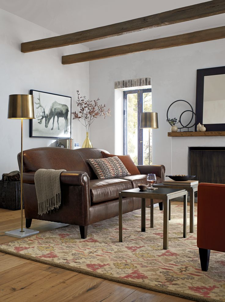 Casual Elegant Living Room: McAllister Evokes Relaxed, Old-world Elegance In A Casual