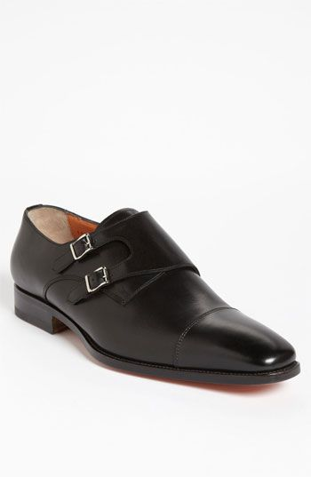 Double monk shoes anthracite Santoni J6OMj6BgOX