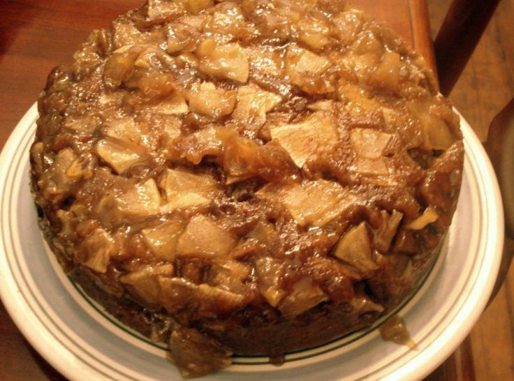 Spiced Caramel Apple Upside Down Cake. Sounds yummy, but I don't enjoy ...
