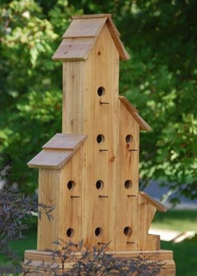 This Suncast birdhouse is more like a townhome for the birds.