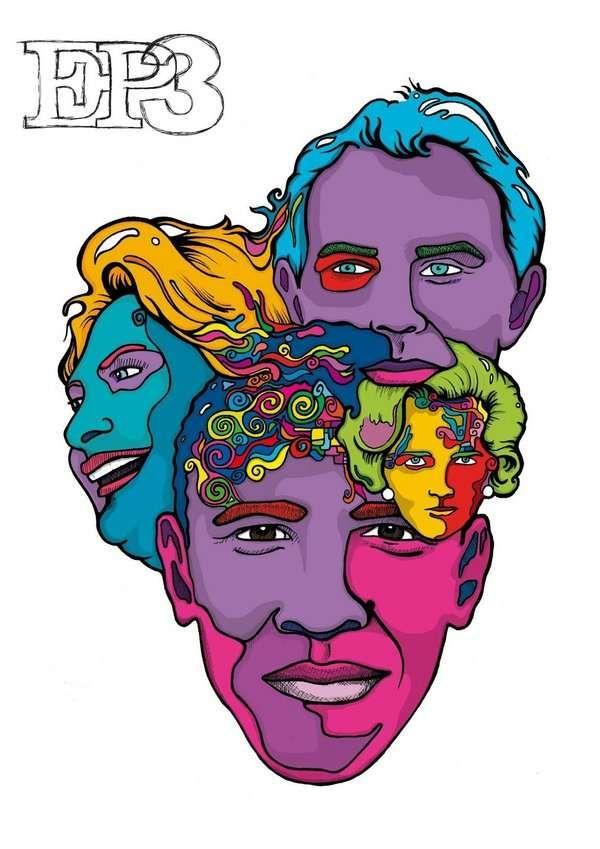 Interpretive Pop Culture Art : Press illustrations for EP3