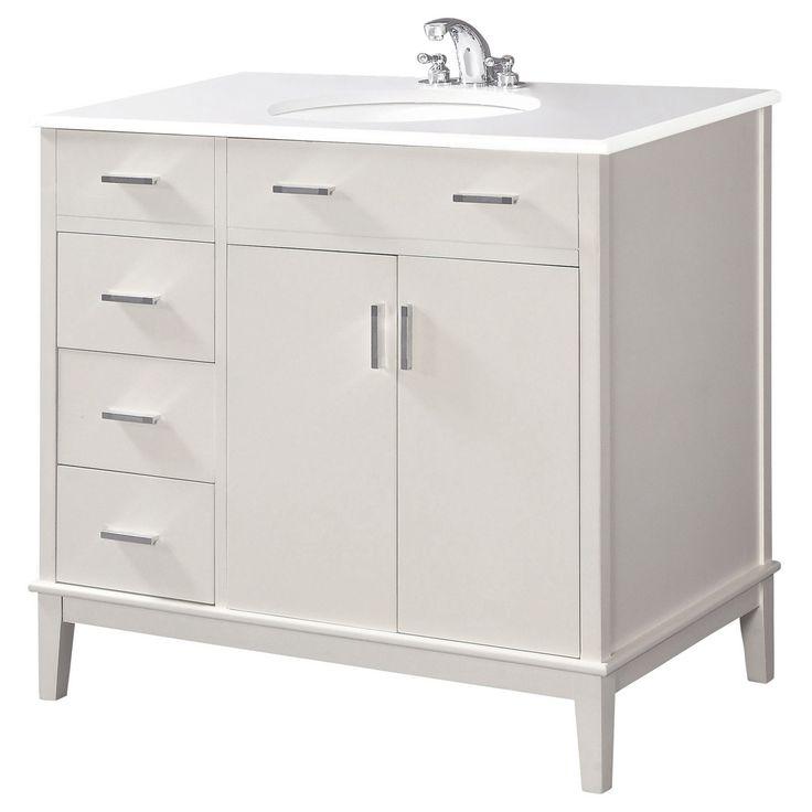 Brooklyn max rockport 36 in bathroom single sink vanity