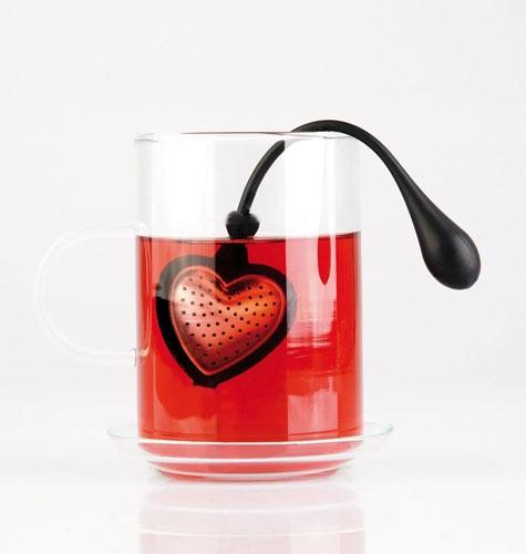 TEA HEART in heart-shape