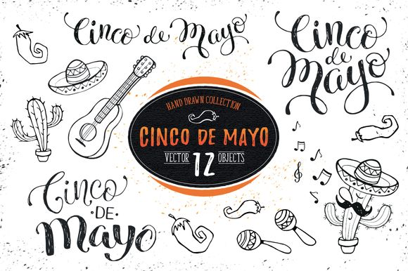 Cinco de Mayo Set 01 by Olly Molly on @creativemarket