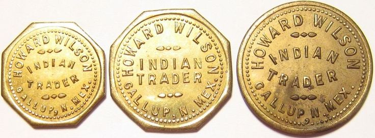 Tokens Rare R9's (3) HOWARD WILSON INDIAN TRADER ! Route 66 Gallup, New Mexico