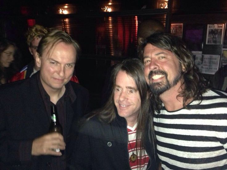 Dale Crover, Chad Channing & Dave Grohl, April 2014.