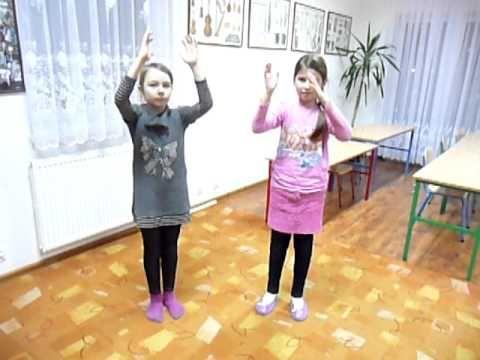 """""""Trzy kurki"""",  bardzo prosty ruch do muzyki, rytmika dla dzieci"""
