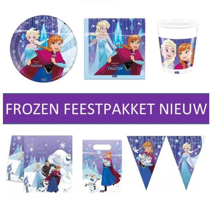 Frozen feestpakket uit de nieuwste Frozen versiering en feestartikelen lijn. Geschikt voor circa 8 personen. Alles voor uw Frozen feestje bij Feestwinkel Altijd Feest.