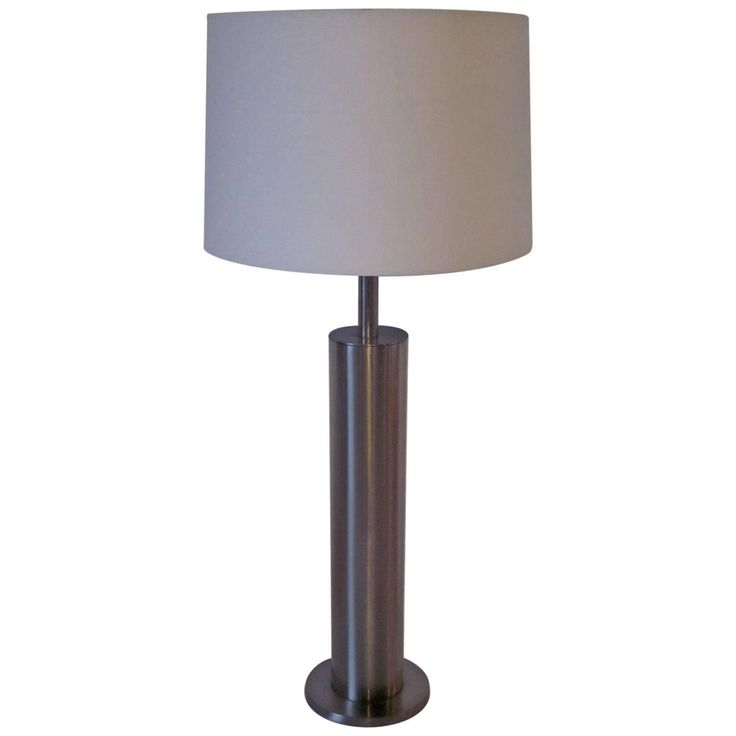 Laurel Brushed Stainless Table Lamp For Sale at 1stdibs