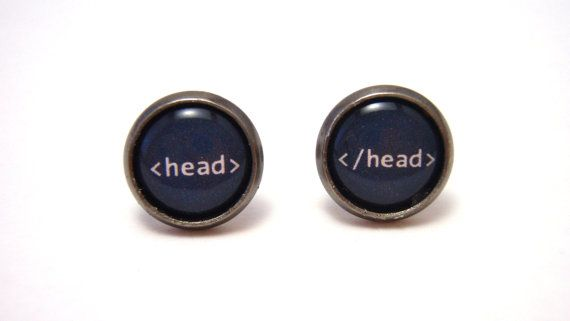 Head tag HTML Studs  Web designer black and white by NightsRequiem, $4.50