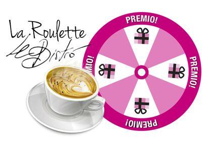 Sólo por pasar tu tarjeta y jugar a la ruleta de @Le Bistró Valladolid puedes ganar uno de los 200 cafés que sortean ;)