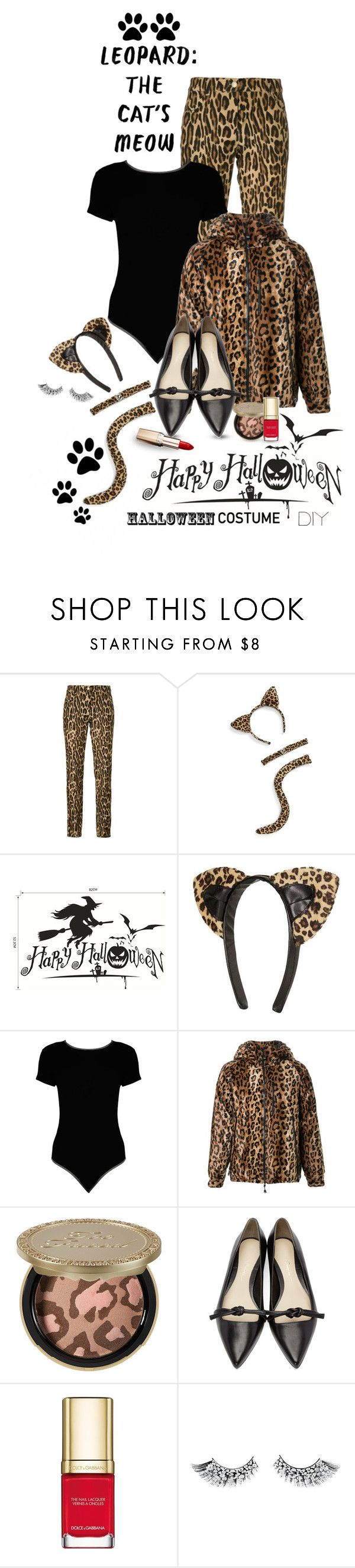 """DIY Halloween Costume - LEOPARD CUTIE"" by shortyluv718 ❤ liked on Polyvore featuring Alberta Ferretti, LULU, Topshop, Boohoo, DressCamp, Too Faced Cosmetics, 3.1 Phillip Lim, Dolce&Gabbana, L'Oréal Paris and halloweencostume"