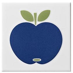 Colours Blue Apple Décor Wall Tile, 100×100mm  B