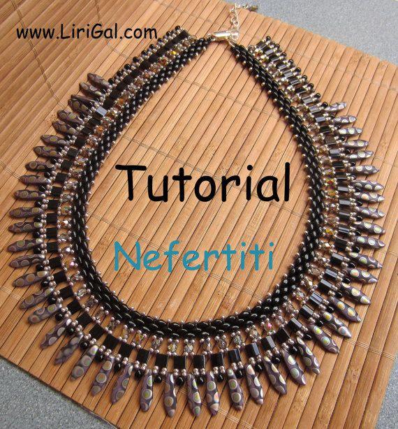 Tutorial Nefertiti SuperDuo Necklace PDF. via Etsy.