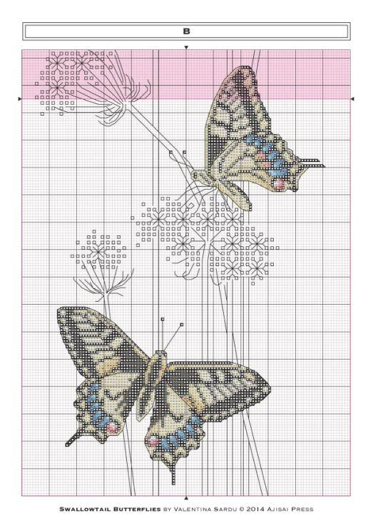 Gallery.ru / Фото #5 - Ajisai Designs - Swallowtail Butterflies - tymannost