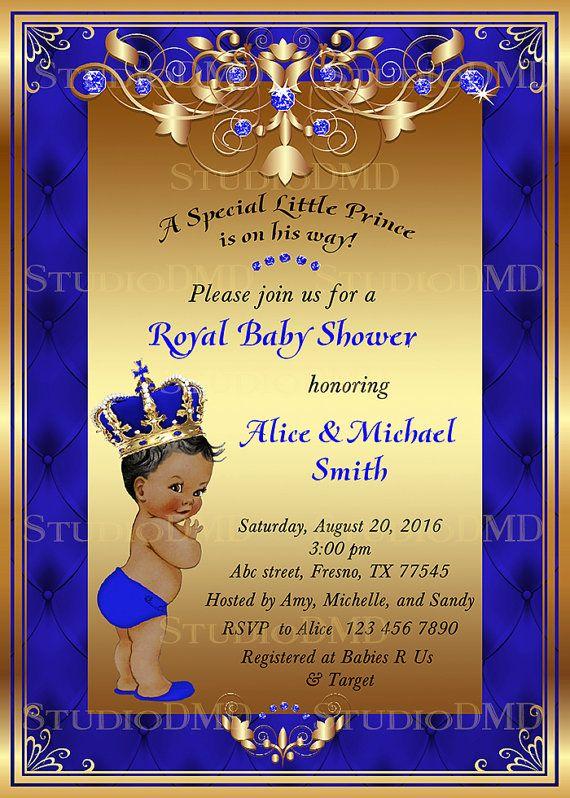 Prince Baby Shower Invitation Little Prince Royal by StudioDMD