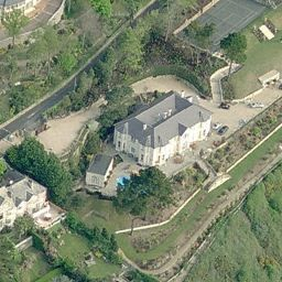 "Bono's House (Bing Maps). The main vocalist of the Irish rock band ""U2"" lives here."