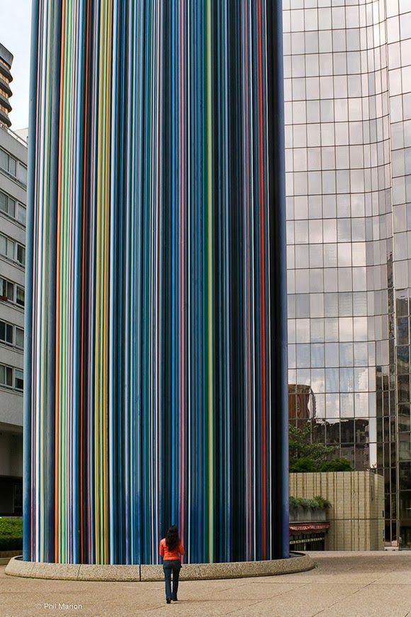 Cheminee Moretti is the work of French artist Raymond Moretti located in Courbevoie - a commune very close to the center of Paris, France.