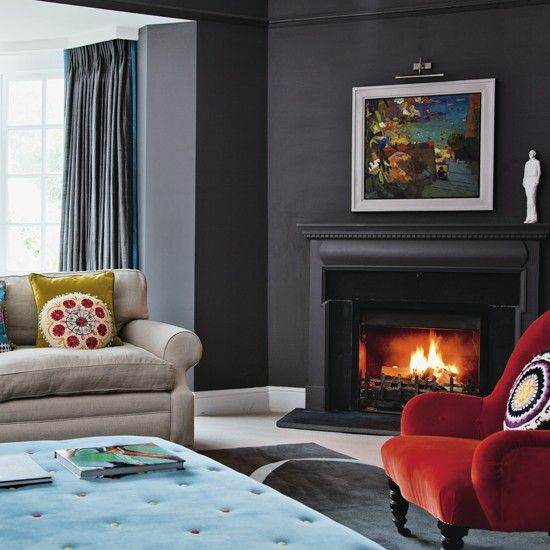 Living room fireside | Be inspired by this replanned 1890s property | House Tour | PHOTO GALLERY | Housetohome.co.uk