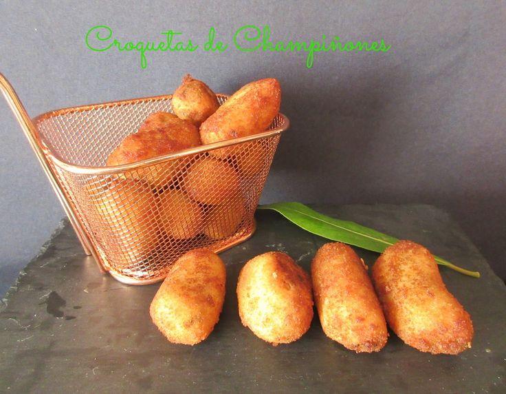 Croquetas de champiñón y  .... Cocina fácil para todos los días, con paso a paso, económica y de dieta.