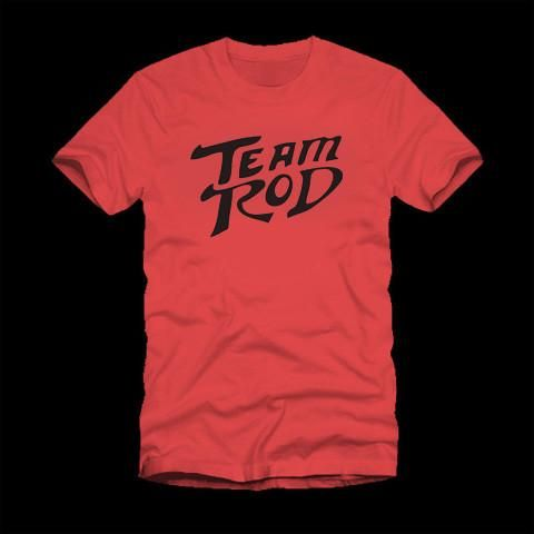 Team Rod T-Shirt Salute your favorite stuntman with this cool Team Rod T-Shirt. This Team Rod T-Shirt was inspired by the movie Hot Rod, and the main character