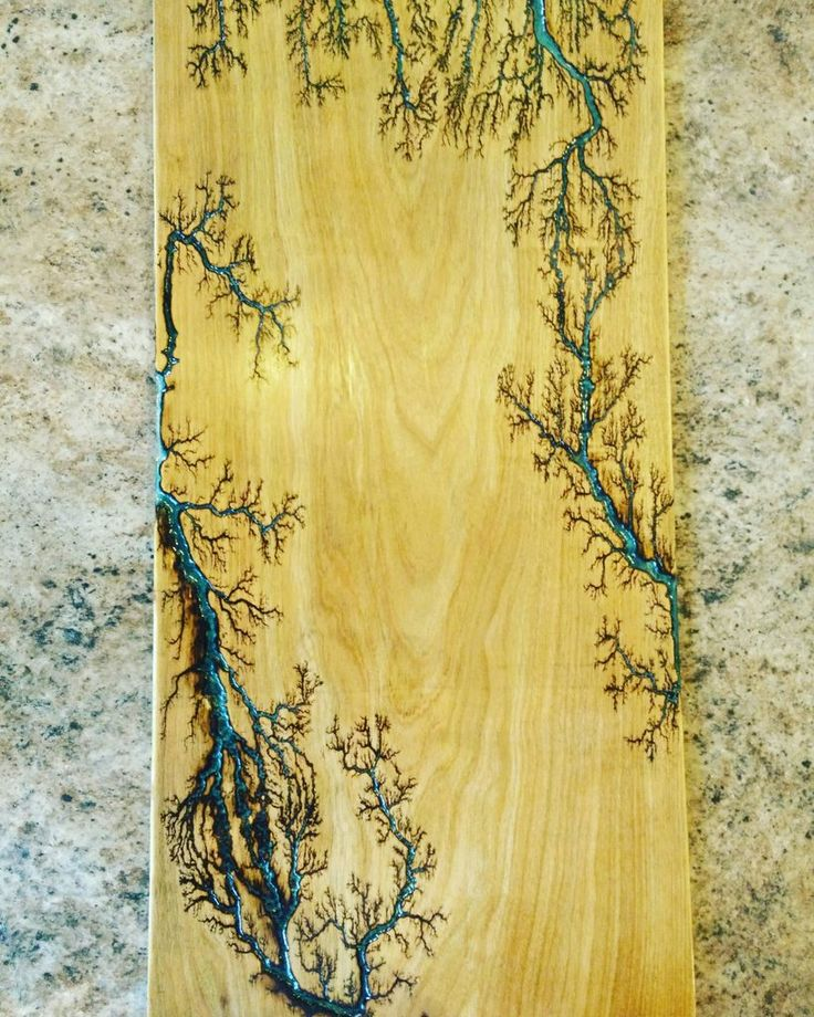 Tried My Hand At The Fractal Wood Burning Art With Glow In