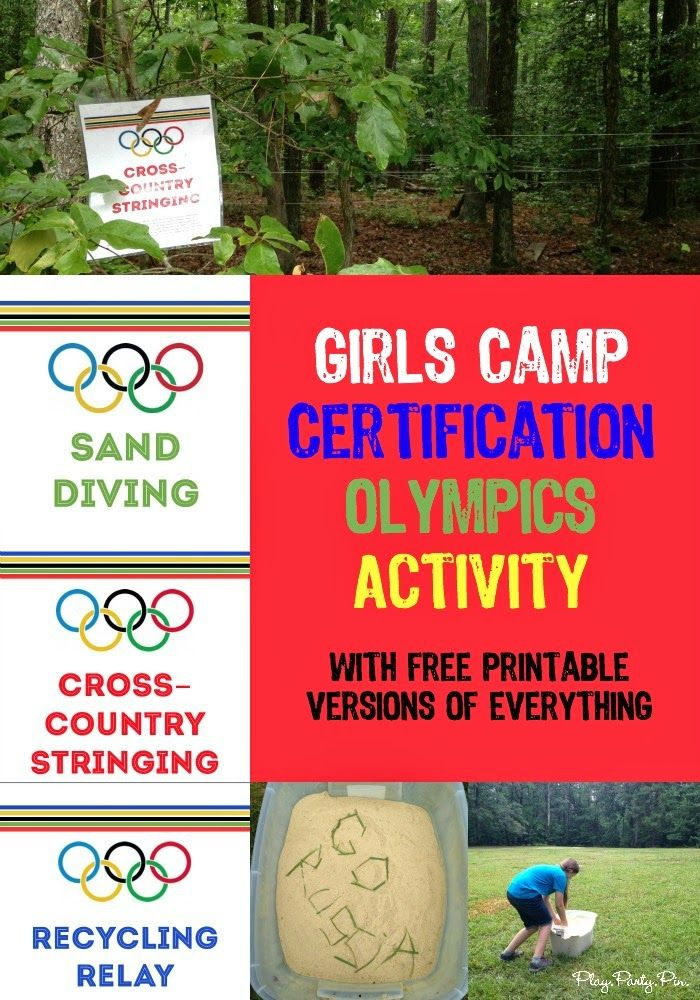 Girls camp certification made fun! Love all of these creative ideas from playpartypin.com to teach and incorporate certification into girls camp!