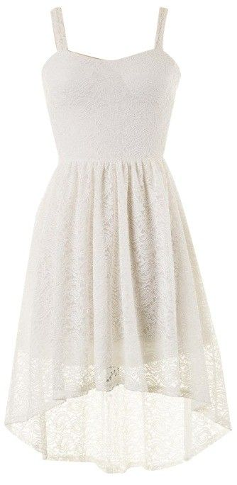 WHITE LACE HIGH LOW DRESS #Ustrendy www.ustrendy.com It has lace and is 2 lengths who could not love it