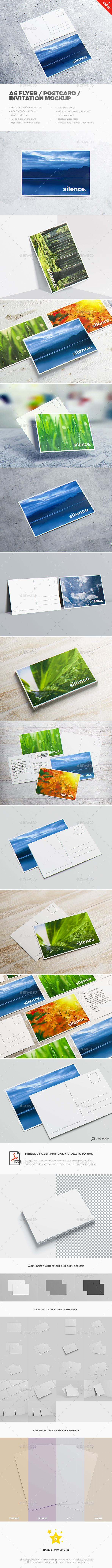 A6 Flyer / Postcard / Invitation MockUp