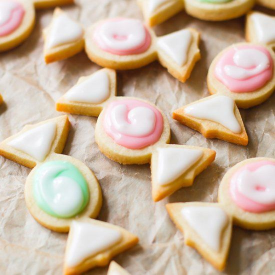 This is my absolute favorite cookie cutter sugar cookie. Plus, the icing is so easy to work with!