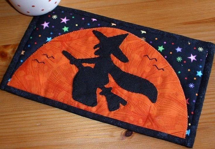 Halloween Witch Mug Rug - PDF Pattern