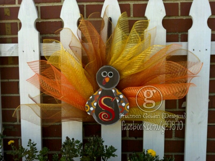Turkey Door Hangers $25. Your Choice Of Initial U0026 These Will Fit Between A  Screen