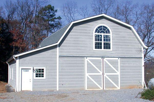 Pole Barn With Addition Barns Houses Pinterest