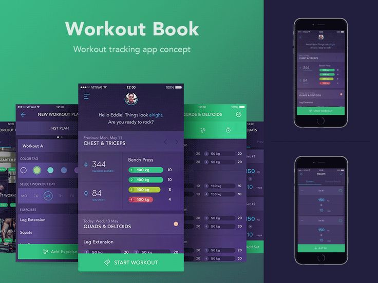 Hello dribbblers, It's been a while since I posted something new on my Behance. Meet my workout tracking app concept. This time I prepared some static screens for you to check in the attachments. H...