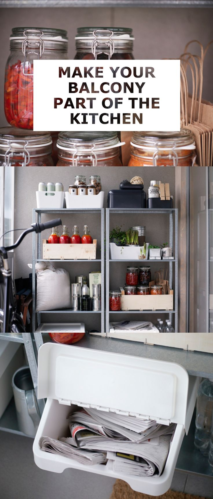 85 best kitchen ideas inspiration images on pinterest kitchen lots of apartments have enclosed balconies they re nice to breakfast in or to catch a sunset but they could be doing more so why not put a part of your
