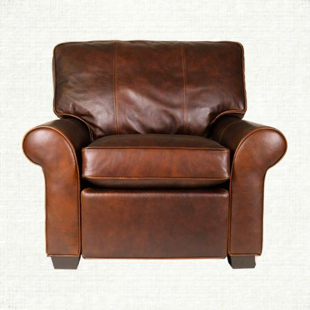 View The Brentwood Leather Motion Recliner From Arhaus. With Its  Unexpected, Angular Interpretation Of